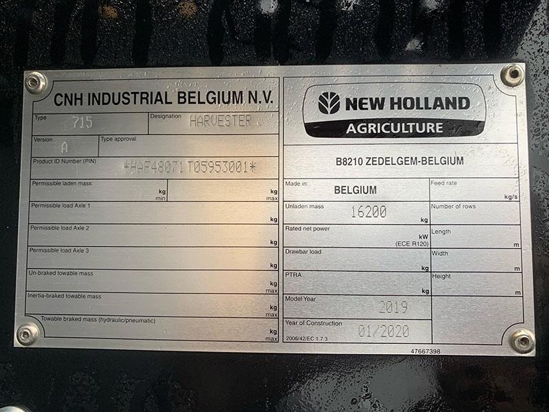 2020 NEW HOLLAND FR480 FORAGE HARVESTER