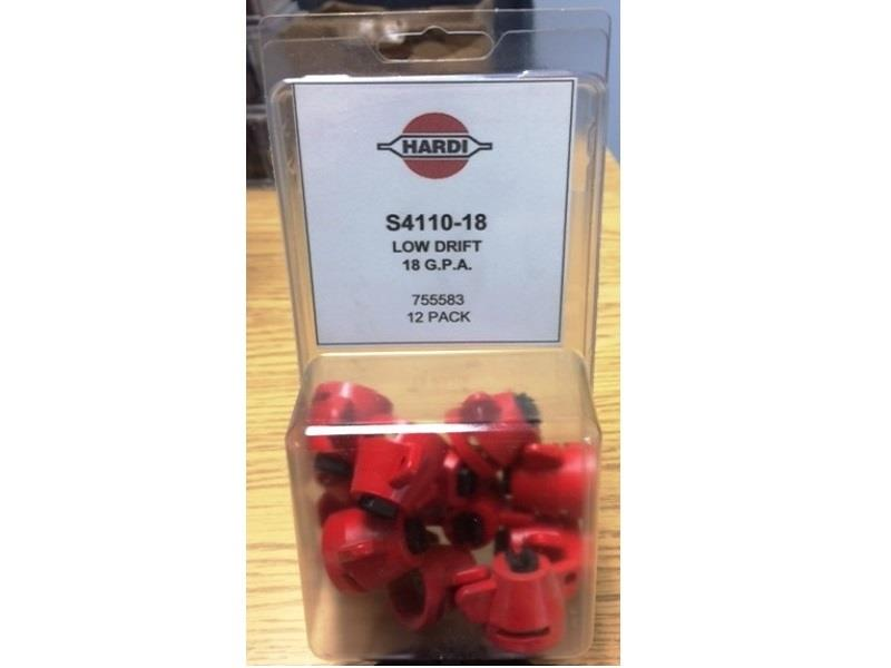 HARDI S4110-18 AND S4110-20 LOW-DRIFT NOZZLES - NEW IN PACKAGE