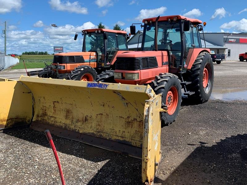 KUBOTA M-120DT TRACTOR AND SNOW BLADE