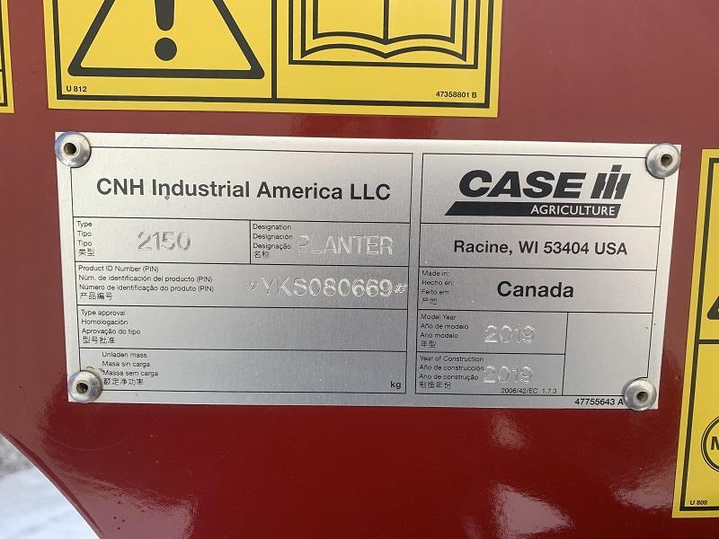 2019 CASE IH 2150 EARLY RISER 24 ROW PLANTER