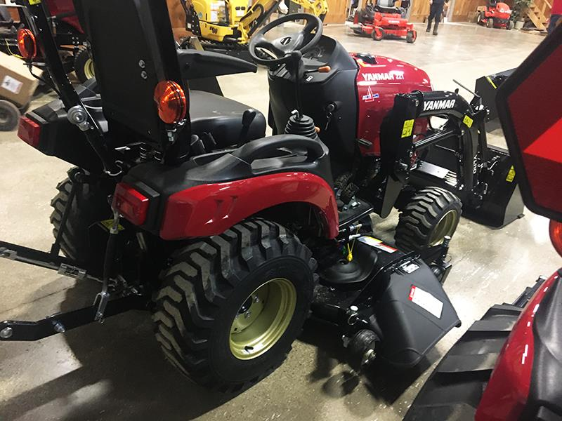 2021 YANMAR SA221 TRACTOR WITH LOADER AND MOWER