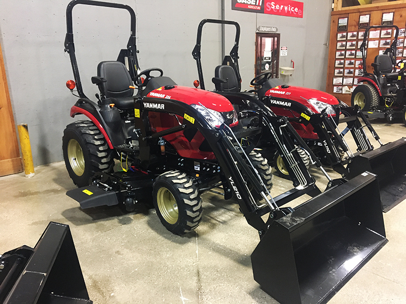 2021 YANMAR SA324 TRACTOR WITH LOADER AND MOWER