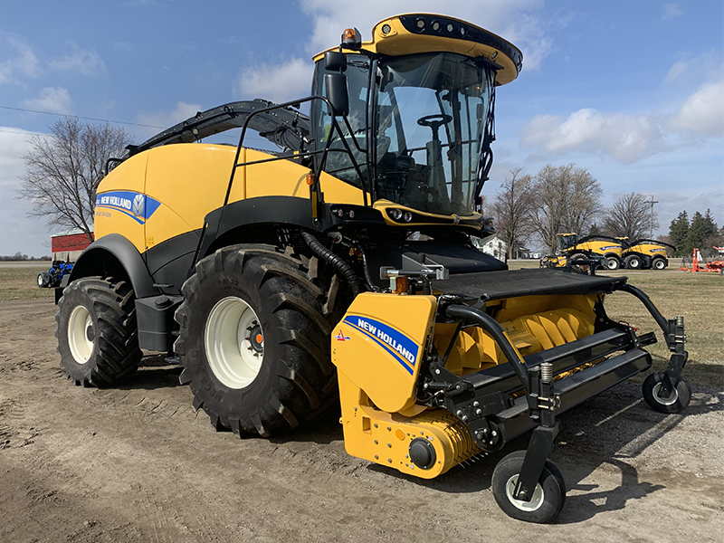 2016 NEW HOLLAND FR550 SELF-PROPELLED FORAGE HARVESTER WITH HAY PU HEAD