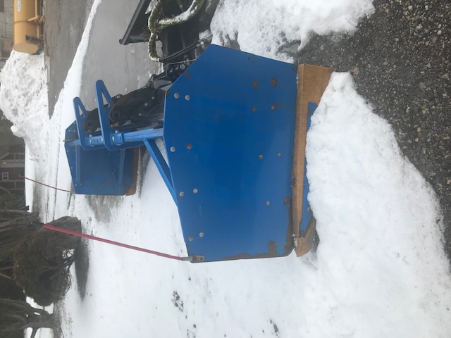 Kage 9' snow plow for skid steer