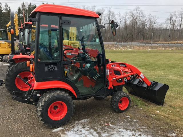 Kioti CS2210 compact tractor with cab