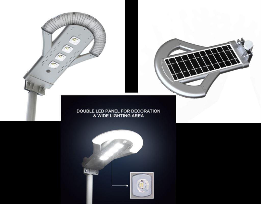 25W Remote Controller Solar Courtyard Light