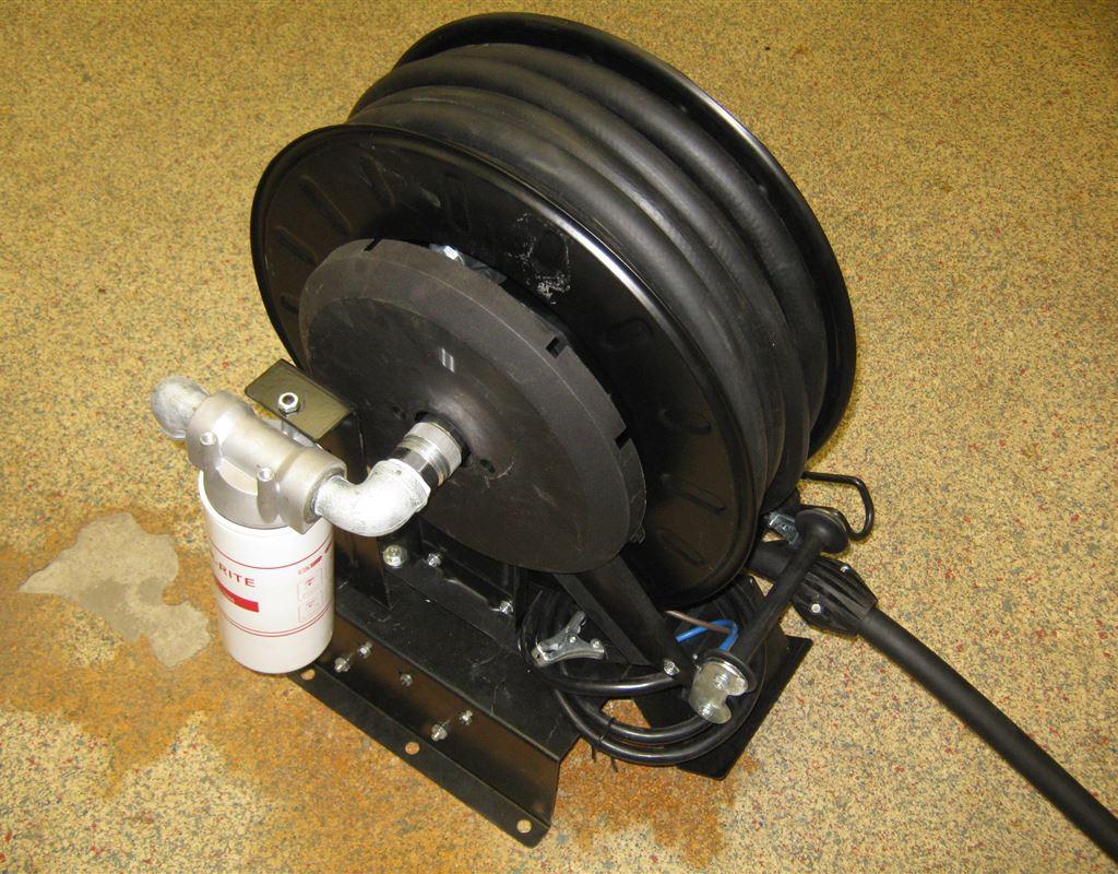 12V Oil/Diesel/Water Pump with Hose Reel