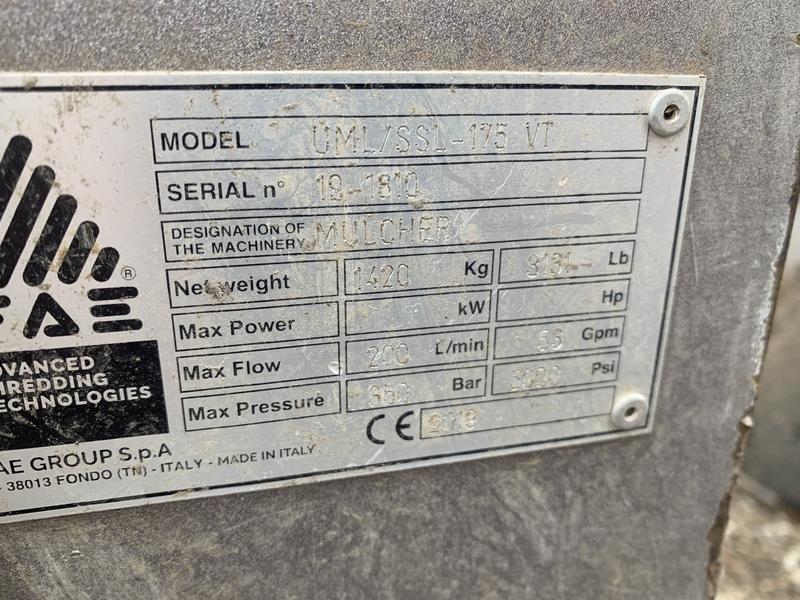 FAE UML/SSL 175 VT Mulcher attachment
