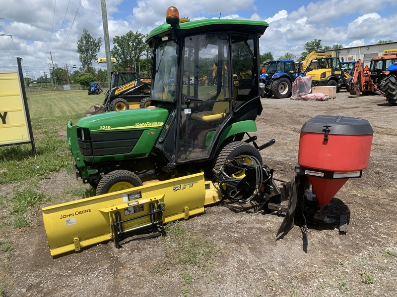 John Deere 2210 Tractor/cab/mower/plow/salter