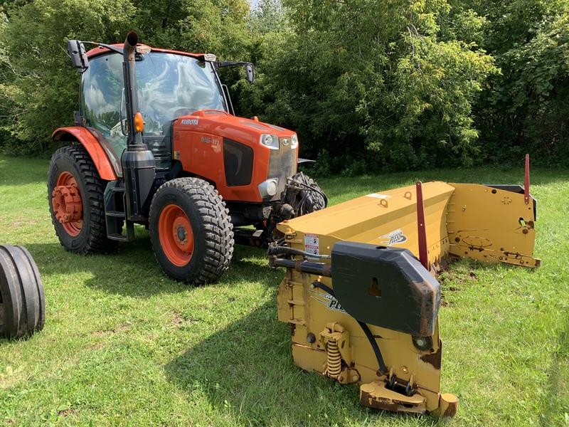 Kubota M6 111 Tractor with plow