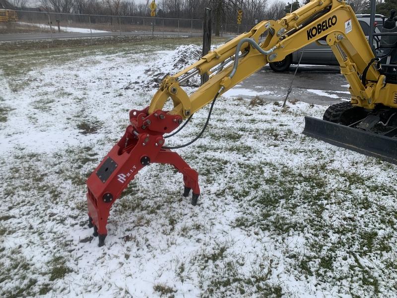 New Power Grapple Attachment for mini excavator